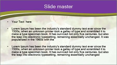 Stylish European Woman PowerPoint Template - Slide 2