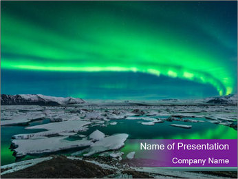 Jokulsarlon in Iceland PowerPoint Template - Slide 1