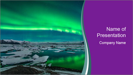 Jokulsarlon in Iceland PowerPoint Template