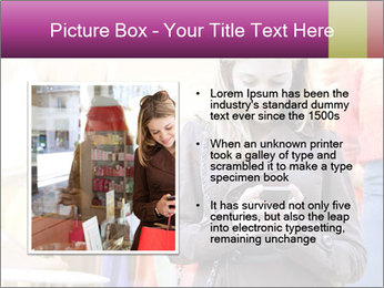 Woman Chatting With Cell Phone PowerPoint Template - Slide 13