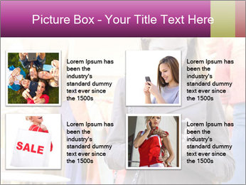 Woman Chatting With Cell Phone PowerPoint Template - Slide 14