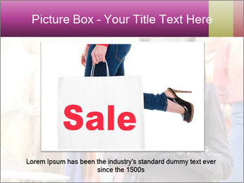 Woman Chatting With Cell Phone PowerPoint Template - Slide 16