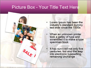 Woman Chatting With Cell Phone PowerPoint Template - Slide 17