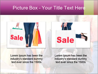 Woman Chatting With Cell Phone PowerPoint Template - Slide 18