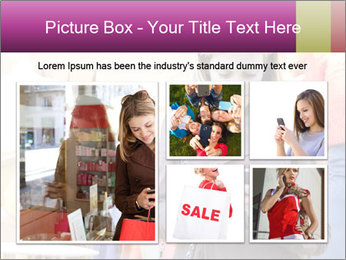 Woman Chatting With Cell Phone PowerPoint Template - Slide 19