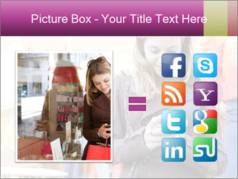 Woman Chatting With Cell Phone PowerPoint Template - Slide 21