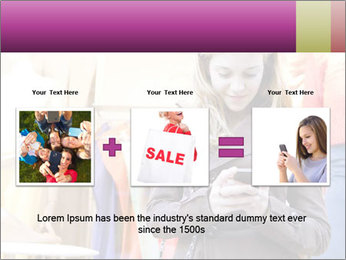Woman Chatting With Cell Phone PowerPoint Template - Slide 22