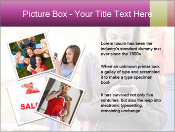 Woman Chatting With Cell Phone PowerPoint Template - Slide 23
