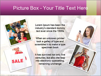 Woman Chatting With Cell Phone PowerPoint Template - Slide 24
