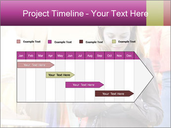 Woman Chatting With Cell Phone PowerPoint Template - Slide 25