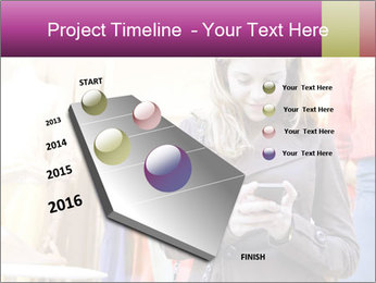 Woman Chatting With Cell Phone PowerPoint Template - Slide 26