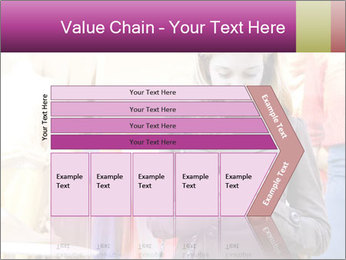 Woman Chatting With Cell Phone PowerPoint Template - Slide 27