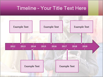 Woman Chatting With Cell Phone PowerPoint Template - Slide 28