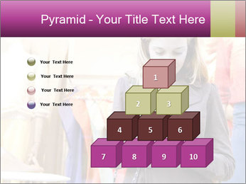 Woman Chatting With Cell Phone PowerPoint Template - Slide 31