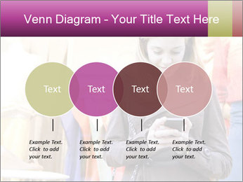 Woman Chatting With Cell Phone PowerPoint Template - Slide 32