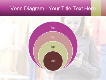 Woman Chatting With Cell Phone PowerPoint Template - Slide 34