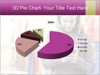 Woman Chatting With Cell Phone PowerPoint Template - Slide 35