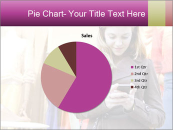 Woman Chatting With Cell Phone PowerPoint Template - Slide 36