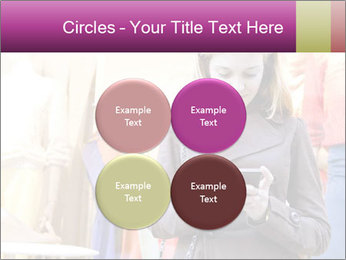 Woman Chatting With Cell Phone PowerPoint Template - Slide 38