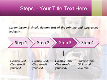 Woman Chatting With Cell Phone PowerPoint Template - Slide 4