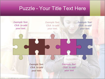 Woman Chatting With Cell Phone PowerPoint Template - Slide 41