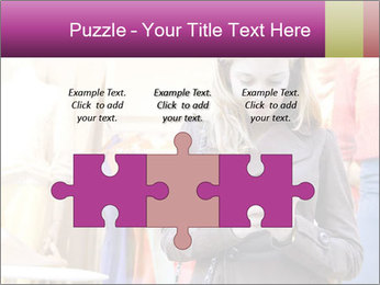 Woman Chatting With Cell Phone PowerPoint Template - Slide 42