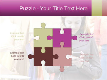 Woman Chatting With Cell Phone PowerPoint Template - Slide 43