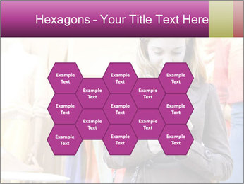 Woman Chatting With Cell Phone PowerPoint Template - Slide 44