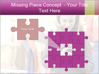 Woman Chatting With Cell Phone PowerPoint Template - Slide 45