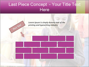 Woman Chatting With Cell Phone PowerPoint Template - Slide 46