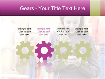 Woman Chatting With Cell Phone PowerPoint Template - Slide 48