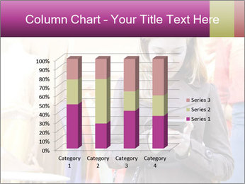 Woman Chatting With Cell Phone PowerPoint Template - Slide 50