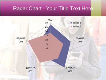 Woman Chatting With Cell Phone PowerPoint Template - Slide 51