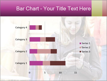 Woman Chatting With Cell Phone PowerPoint Template - Slide 52