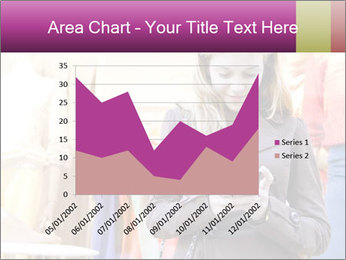 Woman Chatting With Cell Phone PowerPoint Template - Slide 53