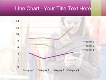 Woman Chatting With Cell Phone PowerPoint Template - Slide 54
