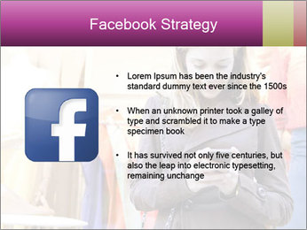 Woman Chatting With Cell Phone PowerPoint Template - Slide 6