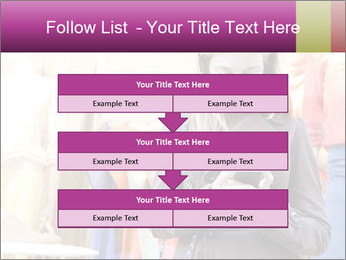 Woman Chatting With Cell Phone PowerPoint Template - Slide 60