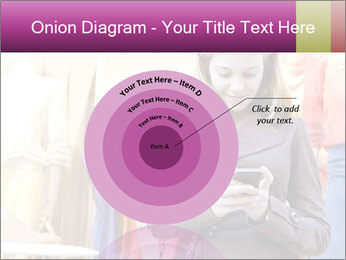 Woman Chatting With Cell Phone PowerPoint Template - Slide 61