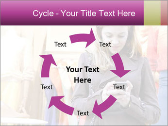 Woman Chatting With Cell Phone PowerPoint Template - Slide 62