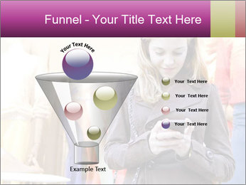Woman Chatting With Cell Phone PowerPoint Template - Slide 63
