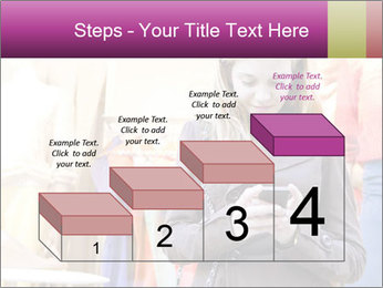 Woman Chatting With Cell Phone PowerPoint Template - Slide 64