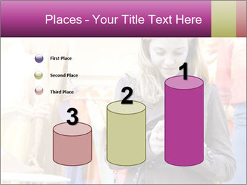 Woman Chatting With Cell Phone PowerPoint Template - Slide 65