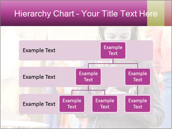Woman Chatting With Cell Phone PowerPoint Template - Slide 67