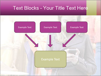 Woman Chatting With Cell Phone PowerPoint Template - Slide 70