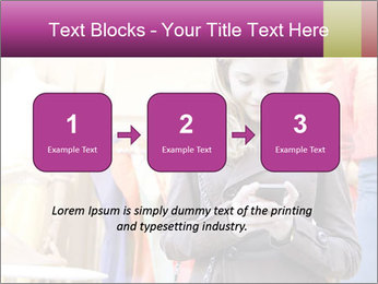 Woman Chatting With Cell Phone PowerPoint Template - Slide 71