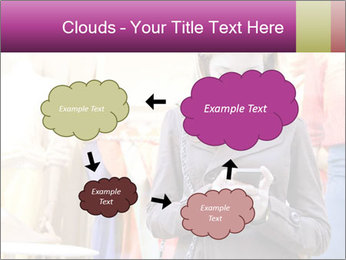 Woman Chatting With Cell Phone PowerPoint Template - Slide 72