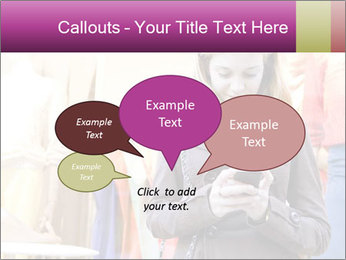 Woman Chatting With Cell Phone PowerPoint Template - Slide 73