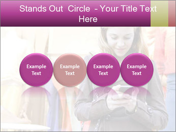 Woman Chatting With Cell Phone PowerPoint Template - Slide 76