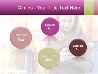 Woman Chatting With Cell Phone PowerPoint Template - Slide 77